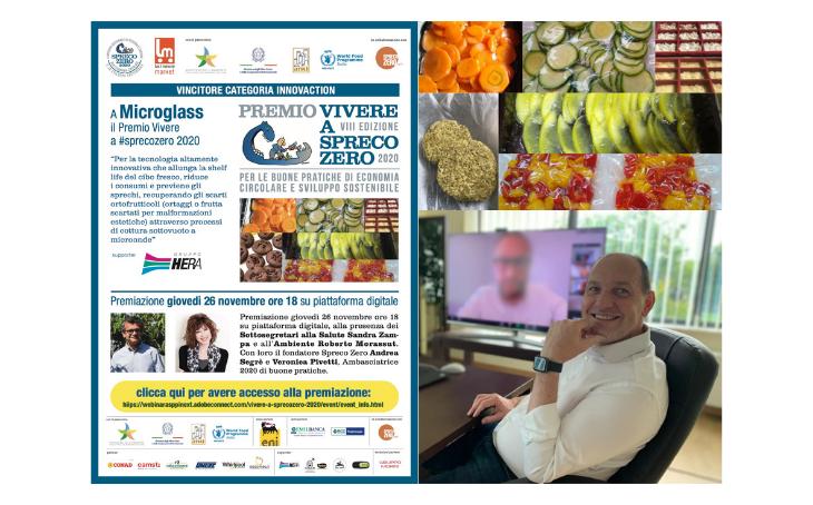 Immagine news A Microglass il premio Vivere A #Sprecozero per l\'innovazione